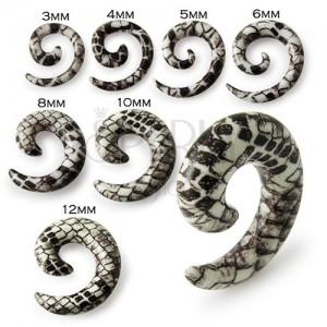 Chiocciola all 39 orecchio espansore color bianco marrone - Serpente collegare i punti ...