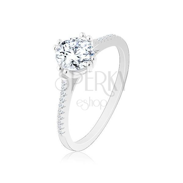 Super Anello di fidanzamento d'argento 925, braccia strette brillanti  VR06