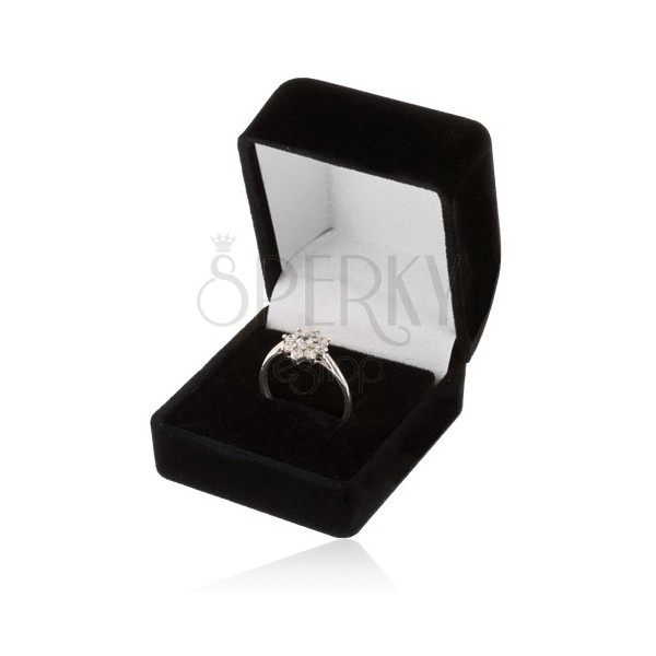 Scatola in velluto per anello ciondolo oppure orecchini - Scatola porta orecchini ...
