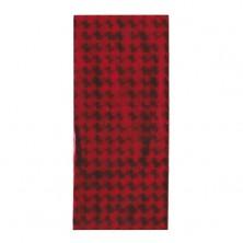Sacchetti regalo in cellofan rosso con quadrati lucidi