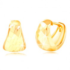 Orecchini in oro giallo 14K - triangolo arrotondato con superficie opaca