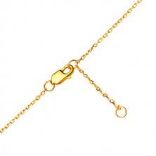 Bracciale in oro 585 - simbolo dell'infinito con piccoli zirconi