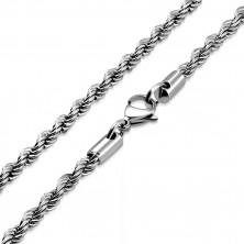 Catena elicoidale d'acciaio, colore argento, maglie ovali, 450 mm