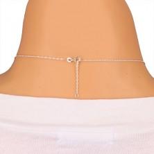 Collana in argento 925 - catena a spirale e piuma patinata