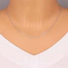 Catena in argento 925 - maglie ovali, maglie unite su perpendicolare, 1,7 mm