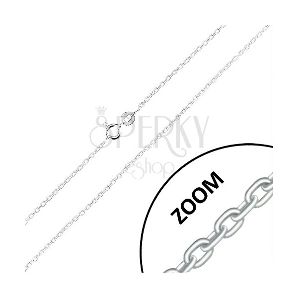 Catena in argento 925 - maglie ovali unite su perpendicolare, 1,5 mm