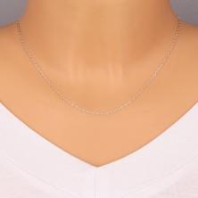 Catena brillante in argento 925 - maglie ovali piatte, maglie unite su perpendicolare, 1,4 mm