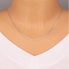 Catena in argento 925 - maglie ovali unite in serie, bordi brillanti, 2,7 mm