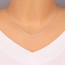 Catena d'argento 925 - maglie fine incurvate, 1,9 mm