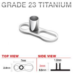 Microdermico sottocutaneo in titanio, 2 buchi, 2 mm